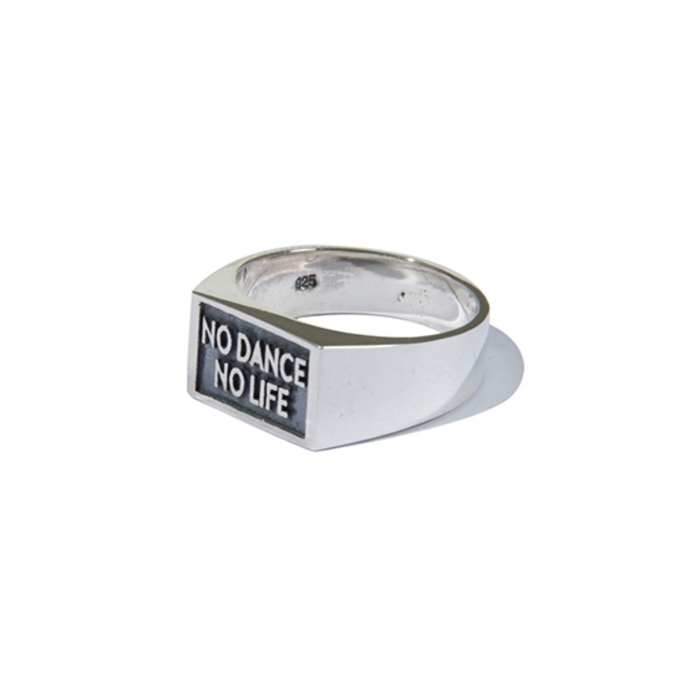 [KRUCHI] NO DANCE NO LIFE BIG RING (SILVER)