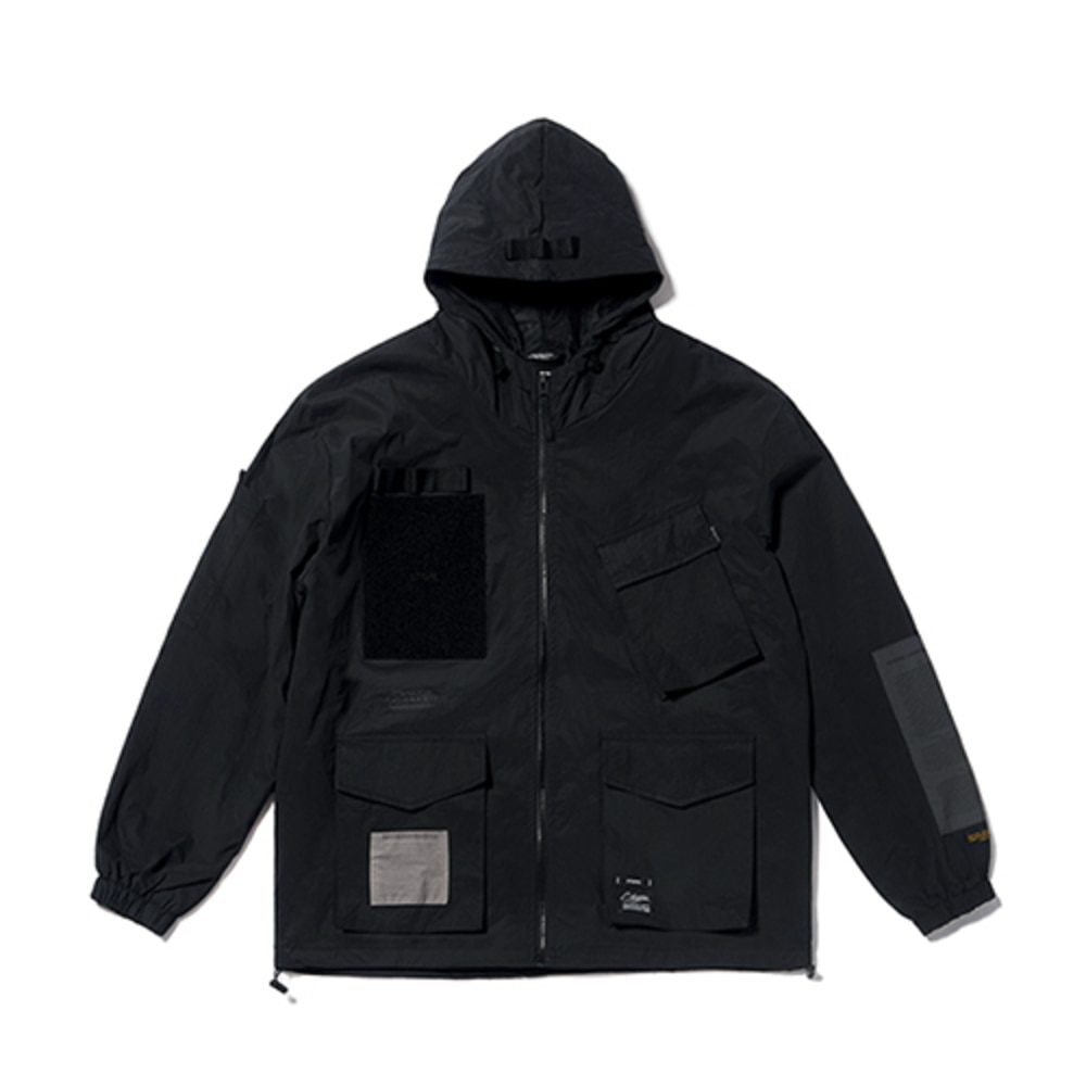 [STIGMA]DV TECH WINDBREAKER JACKET - BLACK