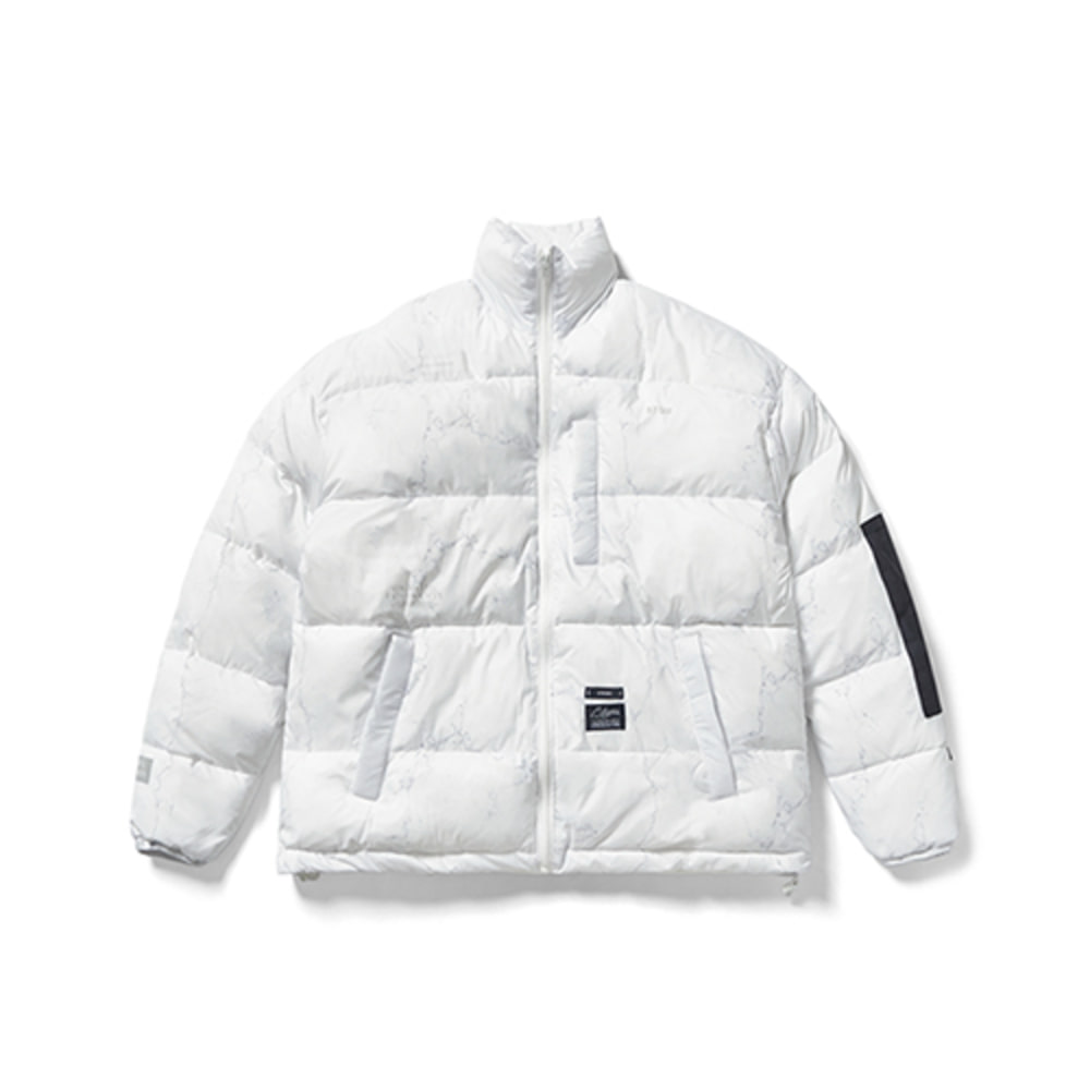 [스티그마] DV SHORT PADDING JACKET - MARBLE WHITE
