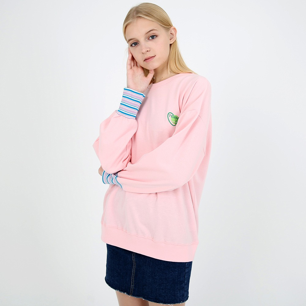 [토이] Small logo sweat shirt pink