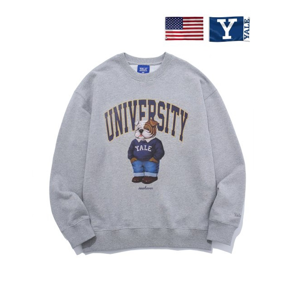 [PHYS.ED DEPT] PREPPY HANDSOME DAN CREWNECK GRAY
