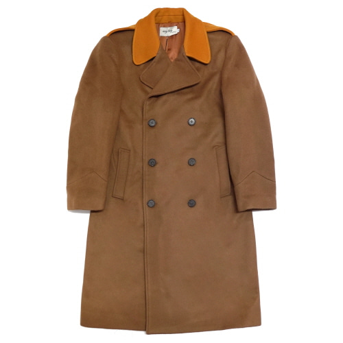 [EASY BUSY] Oversize Military Coat - Brown