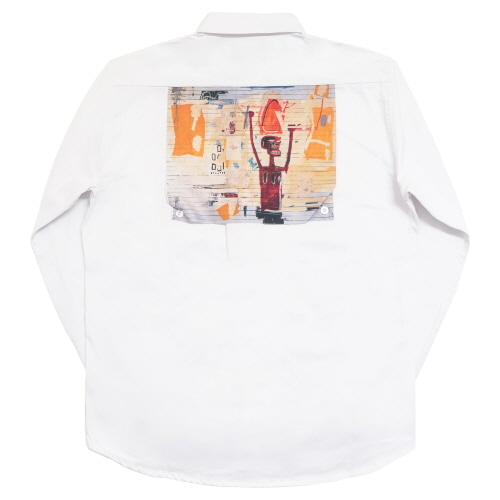 [EASY BUSY x JMB] JMB Back Painting Shirts - White