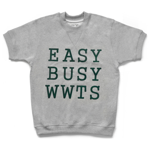 [EASY BUSY] Big Logo Short Sweatshirts - Grey