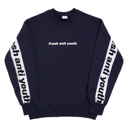 [Fresh anti youth] Band-Crewneck Sweater - Navy