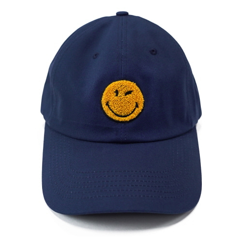 [FRAY x SMILEY] LOGO BASEBALL CAP - NAVY