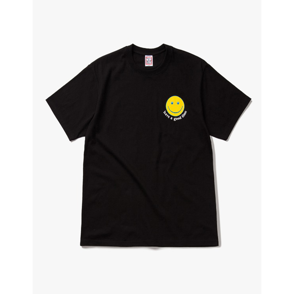 [Have a good time] have a good Smile S/S Tee - Black