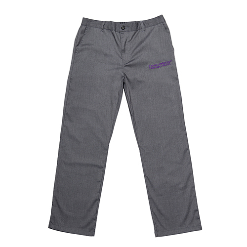 [아임낫어휴먼비잉] AUTOGRAPH WIDE PANTS - GREY