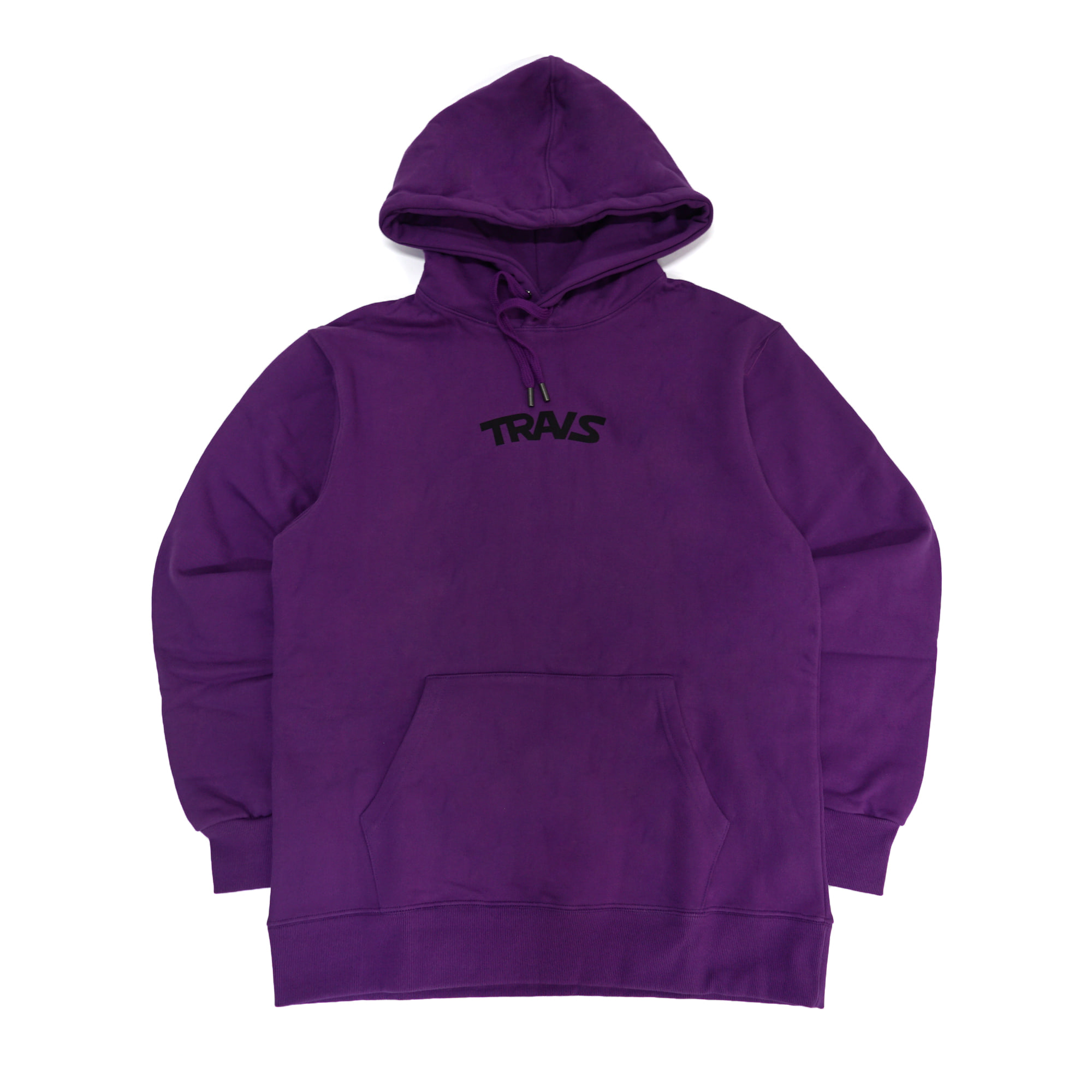 [TRAVS] TRAVS LOGO HOODIE - PURPLE/BLACK