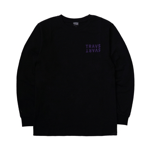 [TRAVS] SVARTCODE L/SHIRTS - BLACK