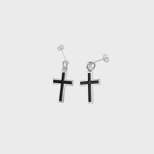 [NONENON] EPOXY CROSS EAR