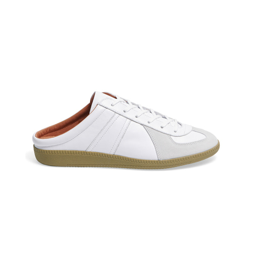 [Brans] Louis Leather Mule White