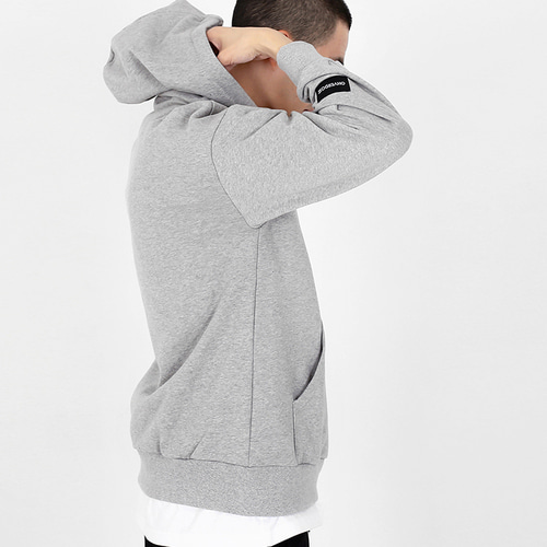 [OHVERDOSE]POINT LOGO HOODIE M/GREY