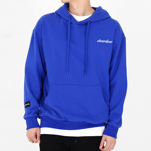 [OHVERDOSE]POINT LOGO HOODIE R/BLUE
