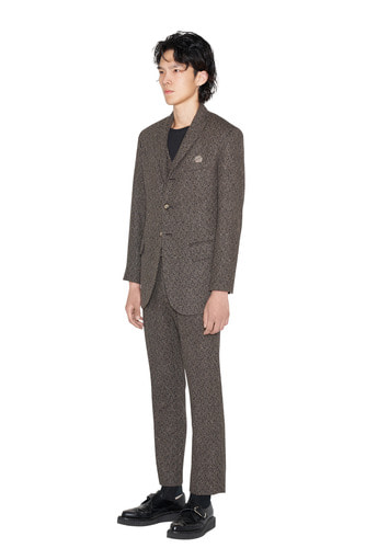 [Dying Breed] Brown Wool Suit Pants