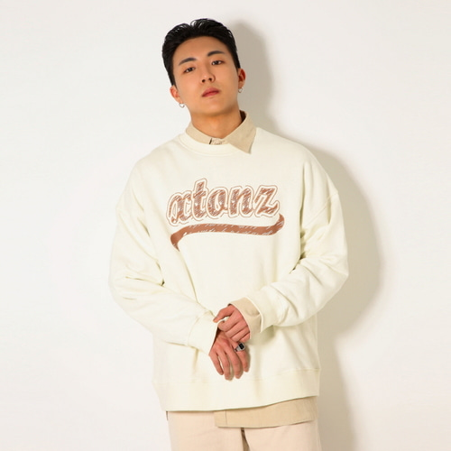[XTONZ] XTM010 SKETCH SWEAT SHIRT (CREAM)