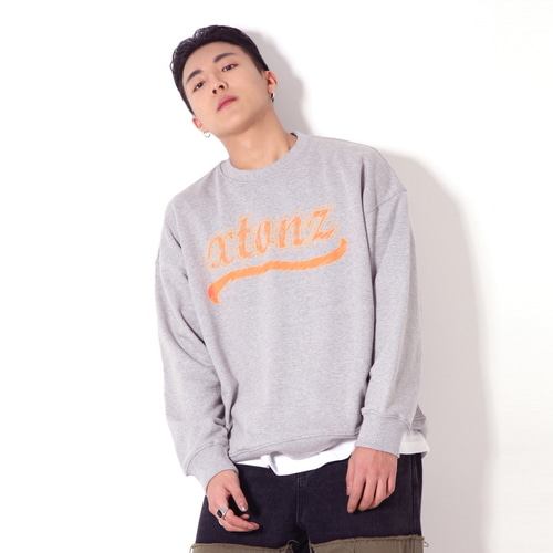 [XTONZ] XTM010 SKETCH SWEAT SHIRT (GRAY)