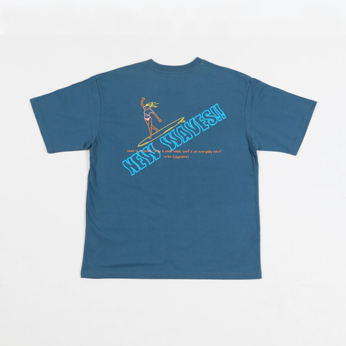[STAGE NAME]NEW WAVE HF tee_ GREY BLUE