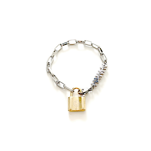 [HAWHA] Gold And Silver Mix Bracelet
