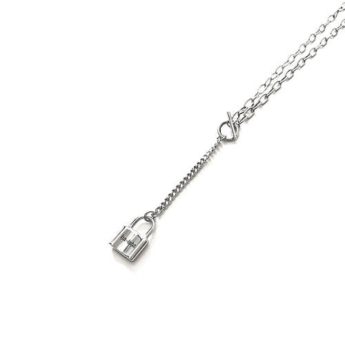 [HAWHA] Long Drop Lock Necklace