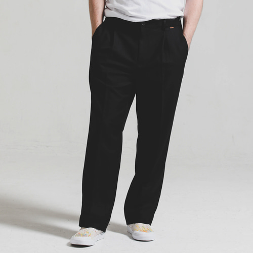 [STAGE NAME][헤비TR원단]Heavy TR wide SLACKS_BLACK