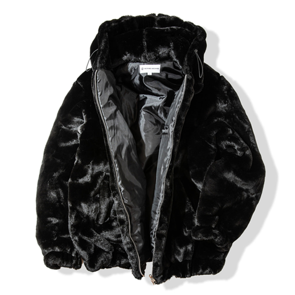 [킹아카이브] Heavy Fur Jacket ver.2 -Black