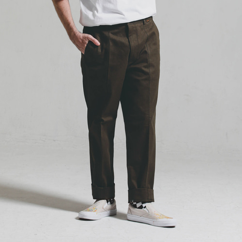 [STAGE NAME]Double stitch STG PANTS_BROWN