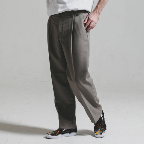 [STAGE NAME][헤비TR원단]Heavy TR wide SLACKS_WARM GREY