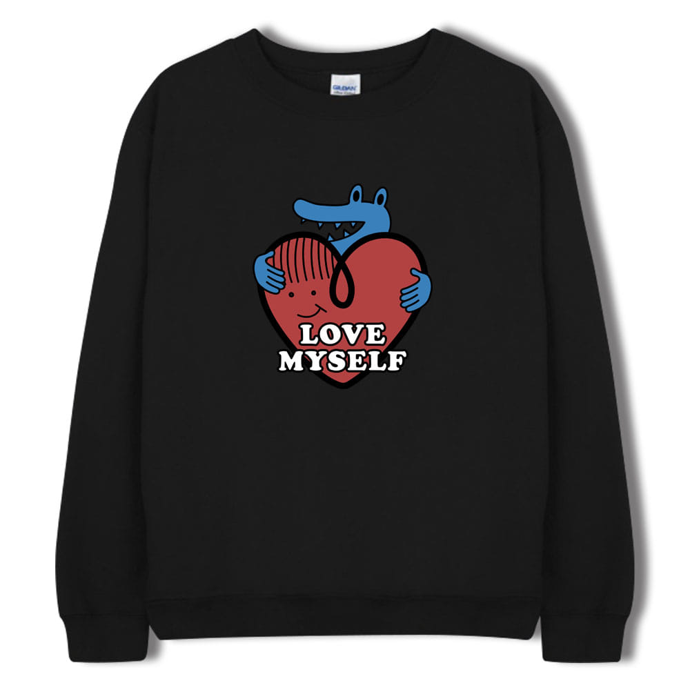 [키매] LOVE MYSELF CREWNECK