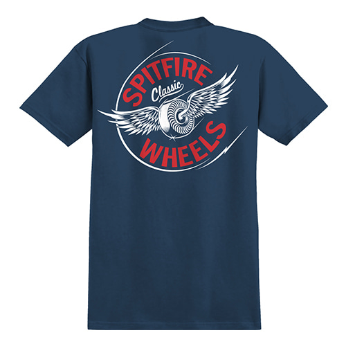 [Spitfire] FLYING CLASSIC S/S T-SHIRT - NAVY / RED & WHITE Prints