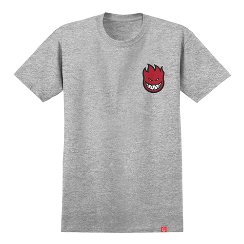 [Spitfire] LIL BIGHEAD FILL S/S T-SHIRT - ATHLETIC HEATHER / RED Print