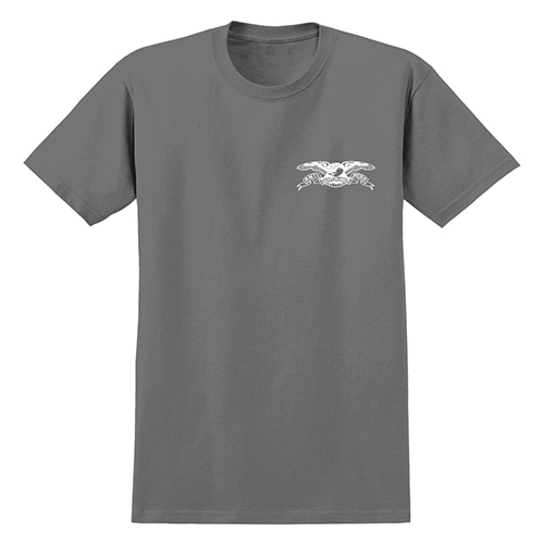 [안티히어로] STOCK EAGLE S/S T-SHIRT - CHARCOAL / WHITE Print