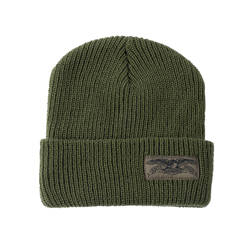 [Anti Hero] STOCK EAGLE LABEL CUFF BEANIE - OLIVE
