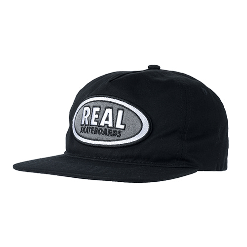 [Real] OVAL PATCH SNAPBACK  - BLACK/CHARCOAL