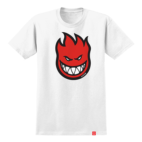 [Spitfire] BIGHEAD FILL S/S T-SHIRT - WHITE / RED Print