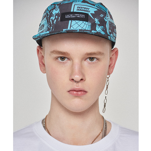Printed Camp hat - TEAL