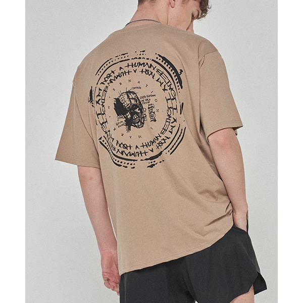Back Stamped Tee - MILITARY BEIGE