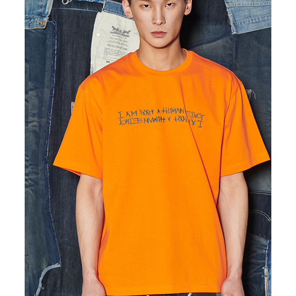 Basic Logo Tee - ORANGE