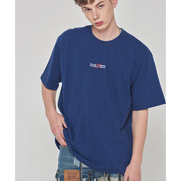 Gotthem Tee - LIGHT NAVY