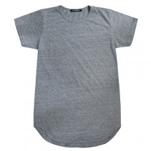 Long Tee Heather - Heather Grey