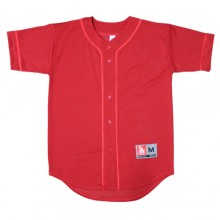Heavy Mesh Baseball Jersey - Red&Red