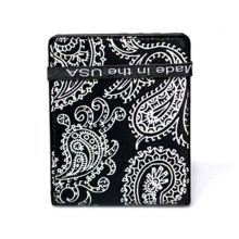 Paisley Wallet - Black