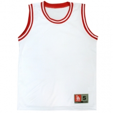 Blank Basketball Mesh Top - White/Red