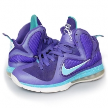 [250] Nike Lebron 9 Summit Lake Hornets Purple Air Max basketball Shoes GS [472664-500]