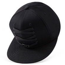 All Black Force Sole Snapback