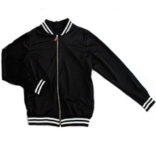 Mesh Stadium Jacket - Black