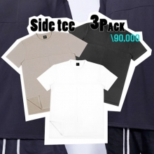 Side Tee - White,Black,Khaki