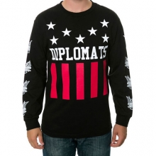 STARS AND STRIPES L/S TEE - BLACK