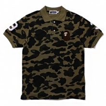 1st Camo Large Ape Head Polo - Green