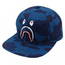 Color Camo Shark Snapback - Navy
